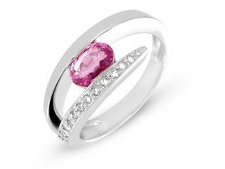 bague saphie rose et diamants bellon